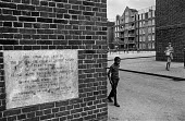 Brixton council estate, South London Ferndale Court, blocks of flats, 1970 - Martin Mayer - 06-07-1970