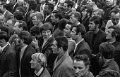 Faces in the crowd of workers from the GKN Sankey automotive components factory in Telford, Shropshire, at mass meeting where they voted to strike for higher pay. The strike led to the closure of seve... - Martin Mayer - 01-08-1970
