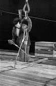 Dock workers on Liverpool docks - palletised timber - Martin Mayer - 27-04-1972