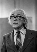 Michael Foot - Deputy leader of the Labour Party speaking at an rally during the Moss Side by-election - Martin Mayer - 1970s,1978,by-election,Commons,deputy,Foot,House,houses,Labour Party,leader,Michael Foot,Moss,of,Party,pol,political,POLITICIAN,POLITICIANS,politics,rallies,rally,Side,SPEAKER,SPEAKERS,speaking,SPEECH