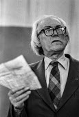 Michael Foot - Deputy leader of the Labour Party speaking at an rally during the Moss Side by-election - Martin Mayer - ,1970s,1978,by-election,Commons,deputy,Foot,House,houses,Labour Party,leader,Michael Foot,Moss,of,Party,pol,political,POLITICIAN,POLITICIANS,politics,rallies,rally,Side,SPEAKER,SPEAKERS,speaking,SPEEC