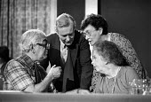 (L-R) Ian Mikardo, Tony Benn, Joan Maynard and Judith Hart at Labour Party conference 1978 - Peter Arkell - 07-10-1978