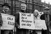 Pensioners lobby of Parliament over the cost of winter fuel for heating, London - Martin Mayer - 17-04-1973