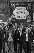 NUPE banner, Council Workers march and lobby to County Hall, London - Peter Arkell - 06-10-1970