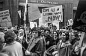 Bristol council workers march in protest at low pay and calling for a living wage 1970 - Peter Arkell - 13-10-1970