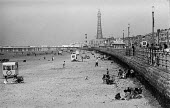 Blackpool beach during the Ashton-under-Lyne Wakes Week, August 1970 - no longer as crowded as it once was - Martin Mayer - 1970,1970s,Ashton-under,beach,BEACHES,Blackpool,COAST,coastal,coasts,crowded,donkeys,holiday,holiday maker,holiday makers,holidaymaker,holidaymakers,holidays,Leisure,LFL,LIFE,Lyne,not,people,person,pe