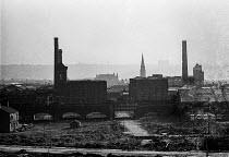 Cotton mills in Ashto-under-Lyne, Lancashire - Martin Mayer - 1970,1970s,apparel,Ashton-under-Lyne,building,buildings,cities,City,cityscape,cityscapes,cotton,England,GARMENT,Greater,KNITWARE,KNITWEAR,Lancashire,Manchester,mill,mills,North,outdoors,outside,skylin