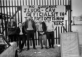 Workers occupying CAV Lucas factory Fazakerley, Liverpool 1972 against closure and redundancies as Lucas expand into Europe - Martin Mayer - ,1970s,1972,against,AUEW,CAV,DISPUTE,DISPUTES,engineering,Europe,FACTORIES,factory,Fazakerley,INDUSTRIAL DISPUTE,job cuts,job loss,jobs,Liverpool,losses,Lucas,male,man,member,member members,members,me