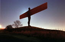 Angel of the North, Gateshead On Tyne, February 1999. - Mark Pinder - 1990s,1999,ACE arts culture,artwork,artworks,fine art,Gateshead,gormley,sculpture,SCULPTURES,tyneside
