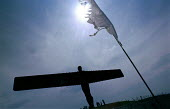 Public launch party for the Angel of the North, Gateshead, Tyne and Wear. 20/6 98 - Mark Pinder - 1990s,1998,ACE arts culture,artwork,artworks,fine art,Gateshead,gormley,launch,party,Public,sculpture,SCULPTURES,tyneside