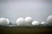 Menwith Hill spy base near Harrogate, North Yorkshire. - Mark Pinder - 04-07-2000