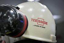 A hard hat, blast furnace control room SSI UK Redcar steelworkss Teesside - Mark Pinder - 02-04-2014