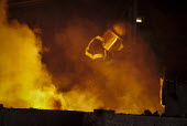 Steelworkers at the blast furnace SSI UK Redcar steelworks Teesside - Mark Pinder - 02-04-2014