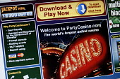 The online gambling site of PartyCasino.com part of PartyGaming.com the internet gambling company that lost many millions of dollars in value when the US Government banned online gaming from foreign c... - Mark Pinder - 03-11-2006