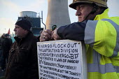 Vivergo lock out. Mass picket by Vivergo workers sacked by Redhall Engineering Services, Vivergo and BP at the Saltend Bioethanol chemical plant, Hull, East Yorkshire. - Mark Pinder - 2010s,2011,DISPUTE,DISPUTES,Hull,Mass,member,member members,members,people,picket,PICKETING,PICKETS,plant,plants,service,Services,trade union,trade union,trade unions,Trades Union,Trades Union,trades