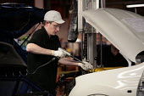 The car production line at Nissan UK's Washington plant near Sunderland, Tyne and Wear, UK. - Mark Pinder - 04-09-2009