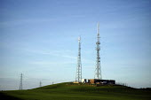 Television transmitter at Bigrigg near Whitehaven. Digital television switchover UK. Whitehaven in Cumbria is the first town in Britain to have exclusively digital television reception when the analog... - Mark Pinder - 2000s,2007,aerial,aerials,analogue,antenna,BBC,broadcast,broadcasting,channel,channels,communicating,communication,conductor,conductors,Cumbrian,data,device,devices,digital,Digitalisation,DTV,EBF econ