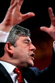 Gordon Brown. 2005 Labour Party Spring Conference, The Sage, Gateshead On Tyne. 12/2 2005 - Mark Pinder - 12-02-2005