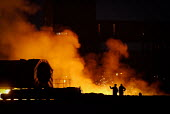 Steelmaking resumes with the relighting of the blast furnace at the Sahaviriya Steel Industries (SSI) UK Redcar steelworks after being mothballed for two years, Redcar, Cleavland, North Yorkshire. For... - Mark Pinder - 20-04-2012