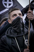 Alliance of fascist groups including the British Movement, National Alliance and Azov hold a White Man March rally, Newcastle Upon Tyne - Mark Pinder - 21-03-2015