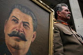 Georgian supporters of Joseph Stalin congregate on the 21st of December every year to commemorate the late dictators birthday in Stalins home town of Gori about 50 miles west of the Georgian capital T... - Mark Pinder - ,2000s,2005,birthplace,capital,CCCP,communism,communist party,communists,cult of personality,dictator,dictatorship,Georgian,home,POL politics,Russian,soviet union,stalinism,stalinist,supporters,USSR