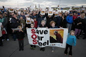 Save Our Steelworks campaign, Keep the Lights Burning rally, Redcar Teesside - Mark Pinder - 2010s,2015,activist,activists,banner,banners,boy,boys,BURN,Burning,BURNS,CAMPAIGN,campaigner,campaigners,CAMPAIGNING,CAMPAIGNS,child,CHILDHOOD,children,closed,closing,closure,closures,Community Union,