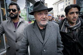 Respect leader George Galloway after the anti Pegida rally. Newcastle Upon Tyne - Mark Pinder - 28-02-2015