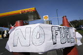 No Fuel sign at a garage in Gosforth, Newcastle Upon Tyne, which has closed due running out of fuel to sell because of panic buying of petrol and diesel by the public who feared tanker drivers would s... - Mark Pinder - 30-03-2012