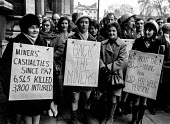 Kent miners wives demonstrate outside Parliament in support of their husbands. London - NLA - 18-01-1972
