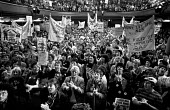Miners wives rally in Barnsley, South Yorkshire - NLA - banner,banners,Barnsley,Miner's Strike,the,Miners Strike,Miners,Miners Strike,Miner's Strike,NUM,NUM,placard,placards,protest,demonstration,rally,solidarity,South Yorkshire,strike,strike,strikes,strik