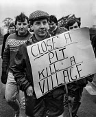 Close a pit kill a village. Kent miners march to Nottinghamshire to seek support for the strike. - NLA - closure,colliery,Kent,march,miner,Miner's Strike,the,Miners Strike,Miners,Miners Strike,Miner's Strike,NUM,Nottinghamshire,NUM,Pit,placard,placards,protest,demonstration,strike,strike,strikes,Trade Un