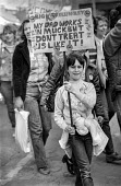 A miners wives rally in Barnsley, South Yorkshire - NLA - ,1980s,1984,Barnsley,child,CHILDHOOD,children,communities,community,DEMONSTRATING,demonstration,disputes,female,females,girl,girls,INDUSTRIAL DISPUTE,juvenile,juveniles,Kellingley,kid,kids,member,memb