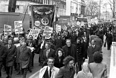 March through London to demand the release of the Shrewsbury 2. - NLA - 1970s,1975,activist,activists,building,Building workers strike 1972,BUILDINGS,CAMPAIGN,campaign campaigning,campaigner,campaigners,CAMPAIGNING,CAMPAIGNS,DEMONSTRATING,demonstration,DEMONSTRATIONS,disp