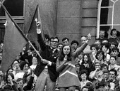 Bernadette Devlin McAliskey, standing as an independent Socialist and Republican wins the Mid Ulster seat in the 1970 General Election at the age of 23, Ulster, Northern Ireland - NLA - ,1970,1970s,age,Bernadette,Bernadette Devlin McAliskey,campaign,campaigning,CAMPAIGNS,democracy,Devlin,election,elections,equal rights,equality,FEMALE,feminism,feminist,feminists,general,Independent,I
