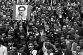 Bangladesh war of independence 1971. Mass march in London in support of independence, with picture of Sheikh Mujibur Rahman - NLA - 1970s,1971,activist,activists,asian,asians,BAME,BAMEs,Bangla,Bangladesh,Bangladeshi,Bangladeshis,Black,BME,bmes,CAMPAIGN,campaigner,campaigners,CAMPAIGNING,CAMPAIGNS,DEMONSTRATING,demonstration,DEMONS