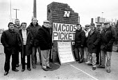 Joint NACODS and NUM picket at Kellingley Colliery the day before the NACODS executive announced an 82.5 vote in favour of all-out strike action. The executive never called the strike, settling instea... - NLA - 1980s,1984,collieries,Colliery,democracy,DISPUTE,DISPUTES,INDUSTRIAL DISPUTE,member,member members,members,mine,miners strike,miner's strike the miners strike,mines,NACODS,NUM,people,picket,PICKETING,
