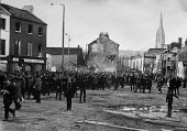 Civil rights marchers on Bloody Sunday before the shooting started, Derry, Northern Ireland 1972 - NLA - 30-01-1972