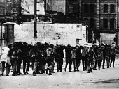 British paratroopers arrest and march away Civil Rights demonstrators on Bloody Sunday in Derry, Northern Ireland - NLA - 30-01-1972