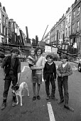 Street in Islington, North London 1972, described as a no go area, barricaded by the locals in protest against rent rises, means testing and evictions under the proposed new rent act - NLA - 29-06-1972