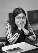 Bernadette Devlin in thoughtful mood during press conference at House of Commons - NLA - 07-02-1974