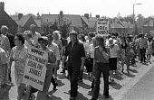 Equal pay strike, Trico. The women, in their second month on strike, march through Brentford, West London, supported by local trades union members. The 350 women at the factory which made Windscreen w... - NLA - 1970s,1976,activist,activists,AUEW,blades,CAMPAIGN,campaigner,campaigners,CAMPAIGNING,CAMPAIGNS,DEMONSTRATING,demonstration,DEMONSTRATIONS,disputes,equal pay,equal pay strike,equal rights,equality,FAC