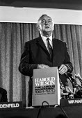 Labour leader Harold Wilson launching his book about his first period in office, 1971 - NLA - 10-07-1971