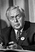 Prime Minister Harold Wilson on a visit to (Huyton) Liverpool - NLA - 1970s,1975,Harold,Labour Party,Liverpool,Minister,pol,political,POLITICIAN,POLITICIANS,politics,Prime,Wilson