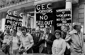 GEC workers lobby pay talks, London - NLA - 19-09-1979