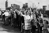 Protest against rundown and closure of the steelworks, Corby 1979 - NLA - 1970s,1979,activist,activists,against,British Steel,BSC,campaign,campaigner,campaigners,campaigning,CAMPAIGNS,closed,closing,closure,closures,closures.,Corby,DEMONSTRATING,Demonstration,DEMONSTRATIONS