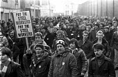 Steel strike 1980 Mass picket at Sheerness steelworks Kent - NLA - 20-02-1980