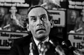 Jeremy Thorpe MP Liberal Party press conference 1974 General Election - NLA - 17-09-1974