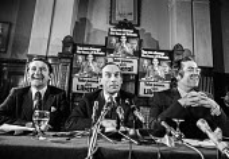 David Steel, Jeremy Thorpe, John Pardoe Liberal Party press conference 1974 General Election - NLA - 17-09-1974