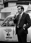 Jimmy Reid standing as a Communist Party candidate Scotland, 1974 general election - NLA - 16-02-1974