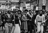 Young black workers, NUPE protest against NHS cuts, London. - NLA - 17-11-1976